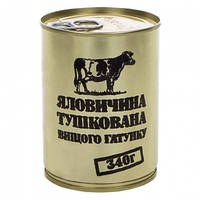 Тушенка из говядины, консерва (340г), ж/б
