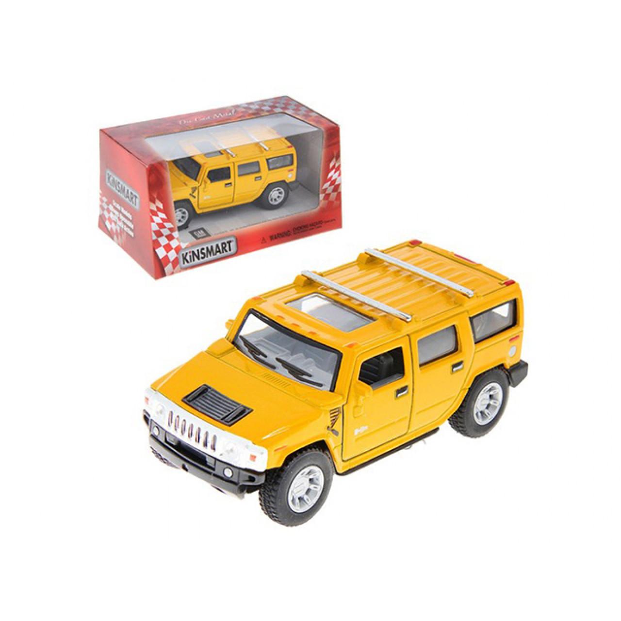 "Машина металева ""Kinsmart"" Hummer H2 Suv 2008, в коробці (24) (96) №KT-5337-W"