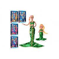 """Лялька """"Defa"""" Русалонька 30см.,з донькою 10см.,гребінець, 5 кольорів, в кор-ці,23х34х5,5см №8302(48)"""
