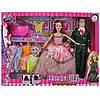 """Набір ляльок """"Сім'я"""" 28см і 29см,плаття 5шт,сумочка,заколочка,в кор-ці,43х32х6см №662D(36)"""