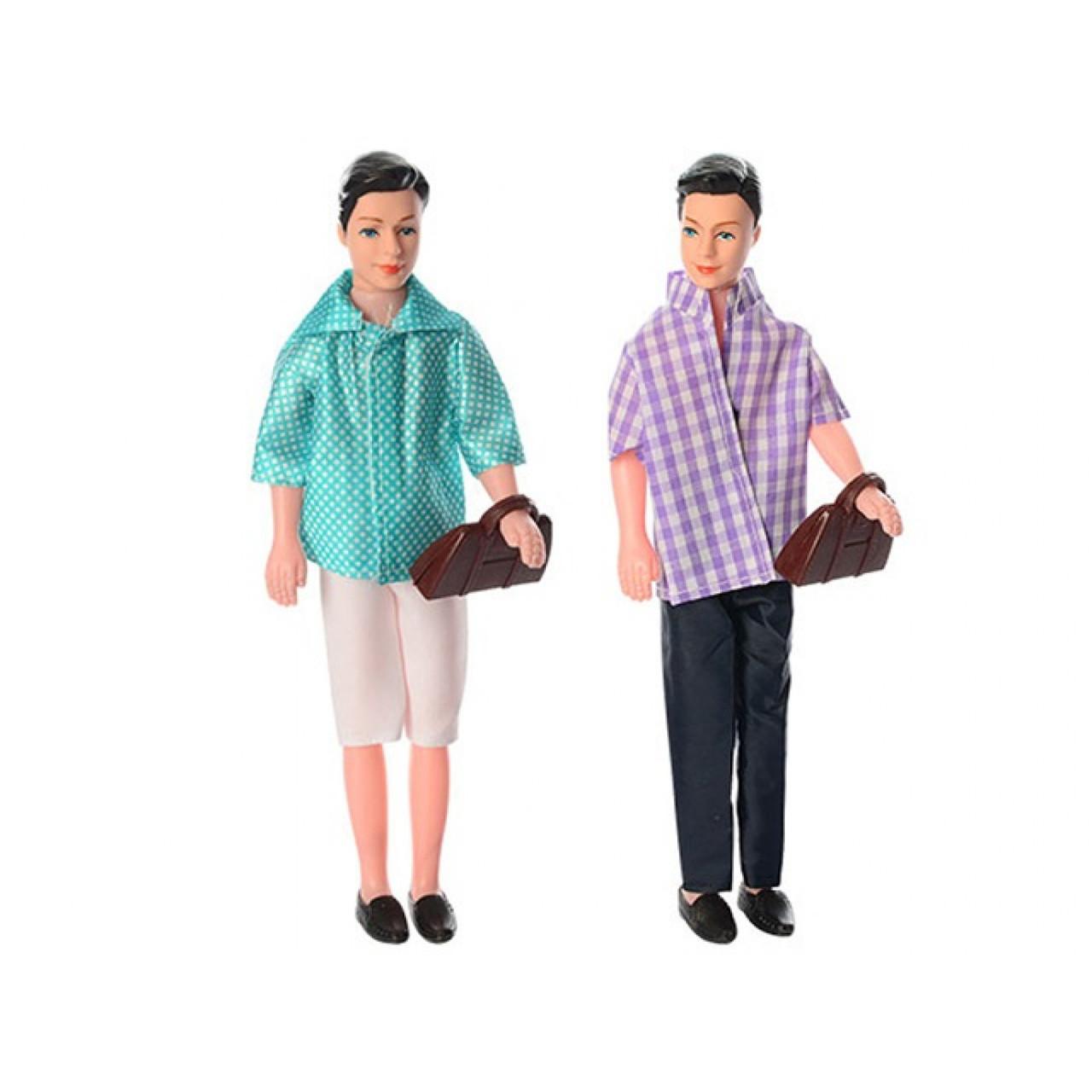 """Лялька """"Кен"""" 28,5 см, сумка, в кульку, 39 х13х3см, 2 види (120) №WD525"""