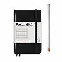 Блокнот Leuchtturm1917 Карманный Чёрный в Линейку (9х15 см) (334821) (4004117258114), фото 1