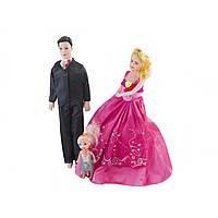 Лялька Сім'я 30см і 28см, донька 10см, в кульку, мікс KS-P4-P5-P6 (72)
