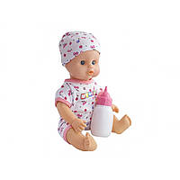 Лялька-пупс з пляшечкою, п'є-пісяє, в рюкзаку 25х18х12см, 3 види 8002F/E/H4