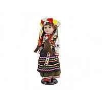 Лялька фарфорова Україночка на підставці, 2 види D13650