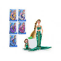 Лялька Defa Lucy Русалочка, міняє колір волосся, з лялькою, в коробці 29см 21011