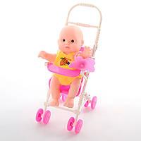 Лялька-пупс 11см,коляска,соска,в кульку 6,5х17х13см №568-11А(120)