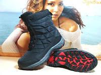 Термо ботинки женские Supo OUTDOOR черные 41 р.