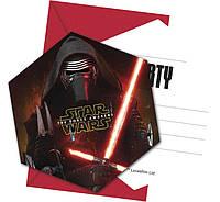 """Приглашение """"Star Wars """" с конвертом"""