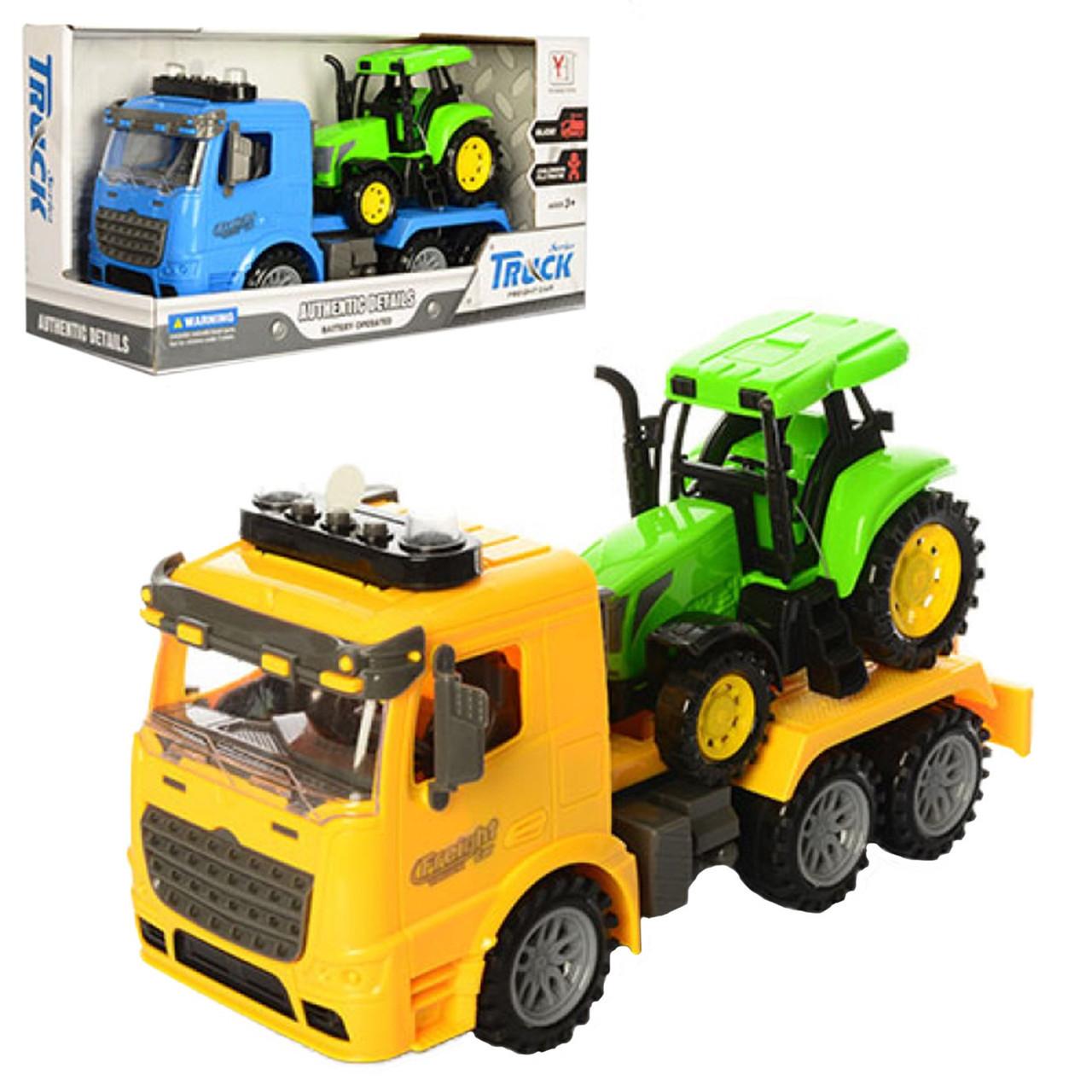 Трейлер інер-ий 28см,трактор,звук.,світ.,на бат-ці,в кор-ці,34х17х12,5см №98-613A(36)