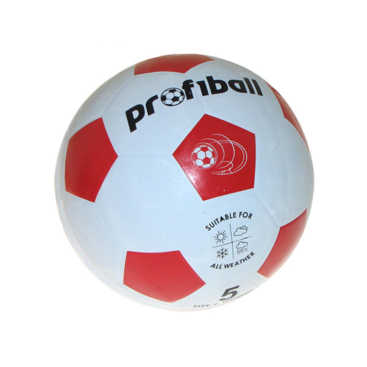 М'яч футбольний VA0014 20см розмір 5 3 кольори гладкий гумовий