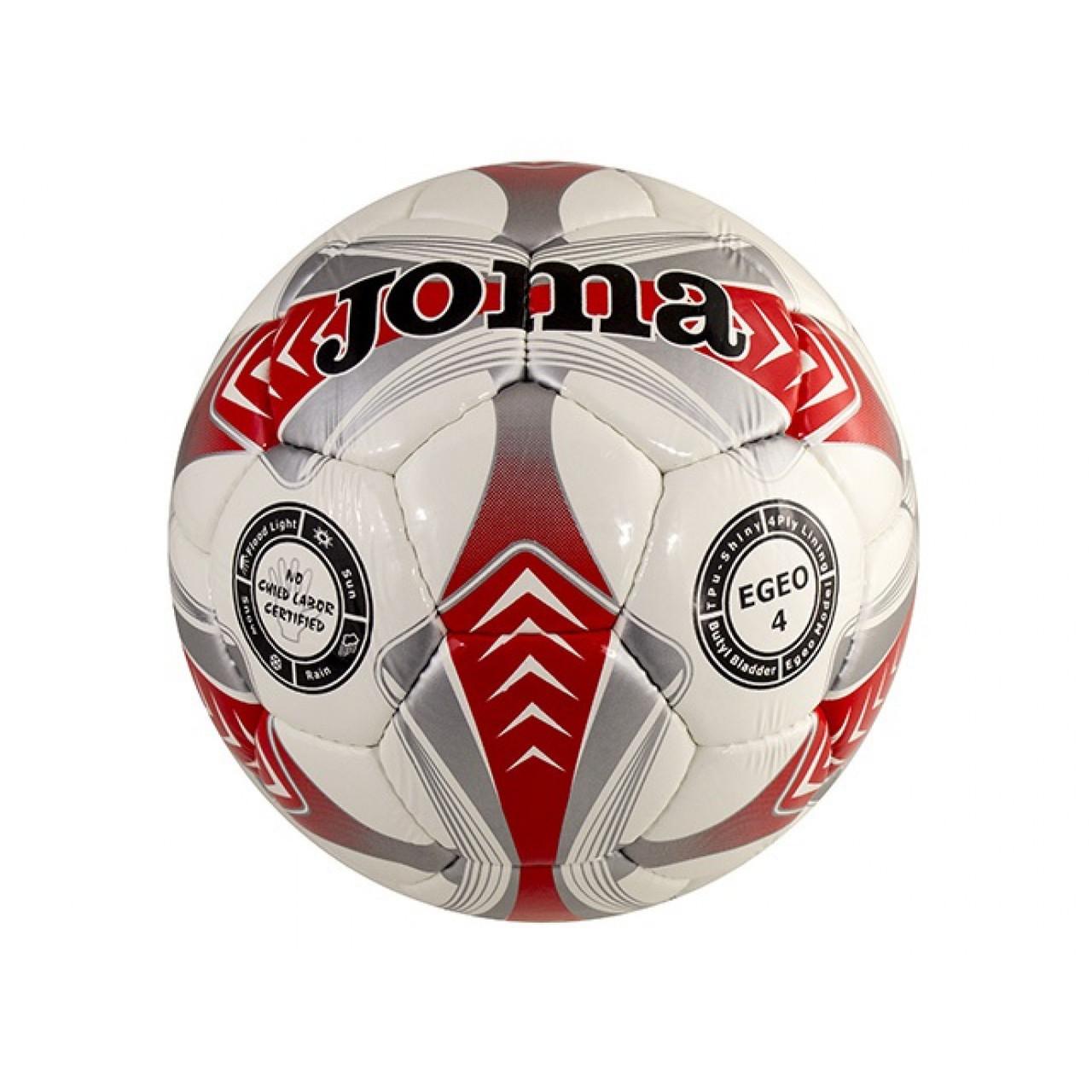"""М`яч футбол. """"Egeo"""" №2025 червоно-сіро-білий,розмір 4"""