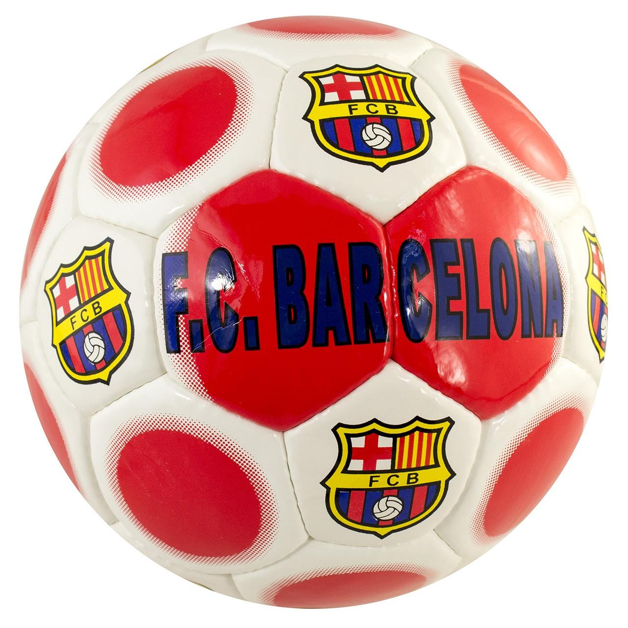 """М'яч футбольний лакований """" Barsa """" white/red"""