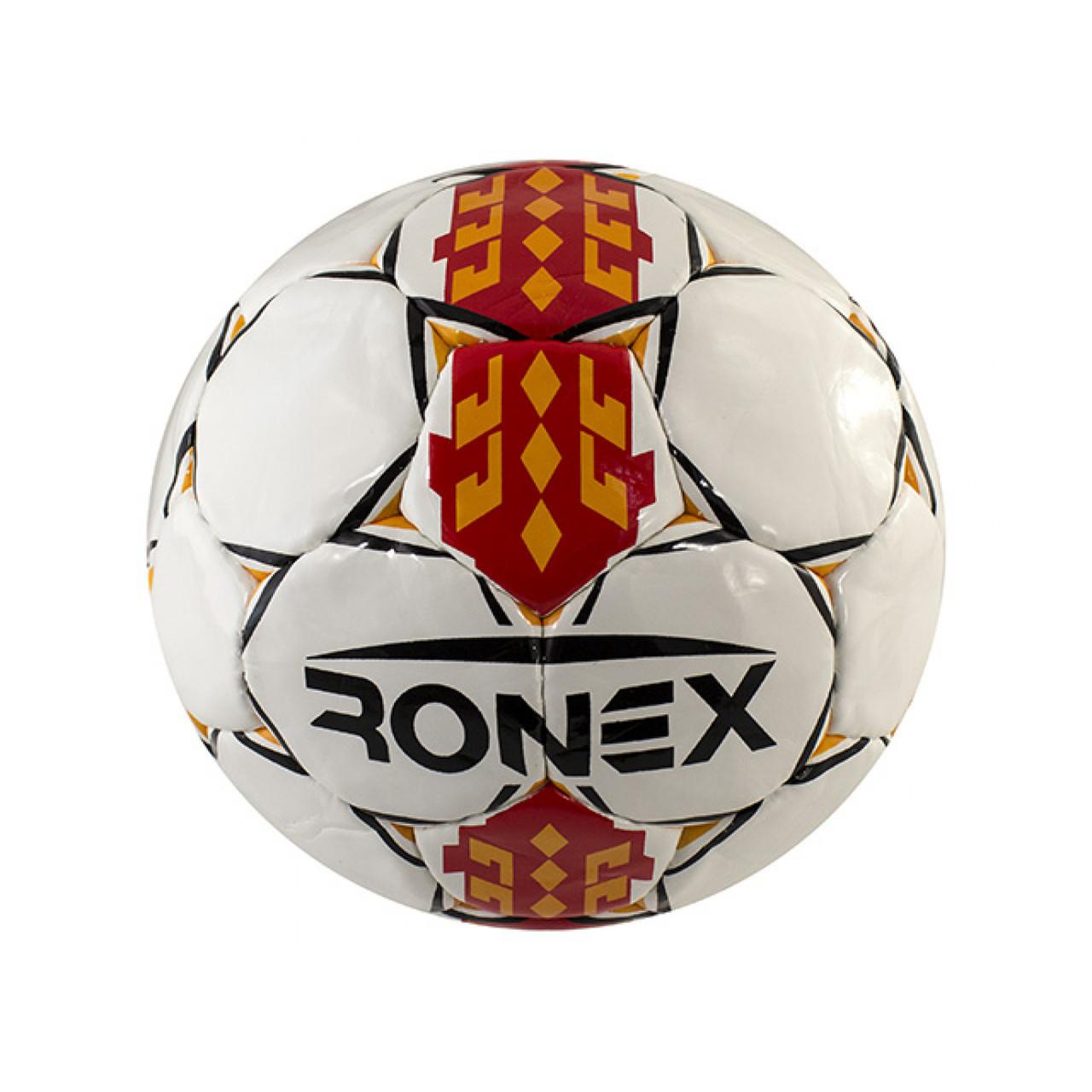 М'яч футбольний Ronex для футзалу біло-червоний