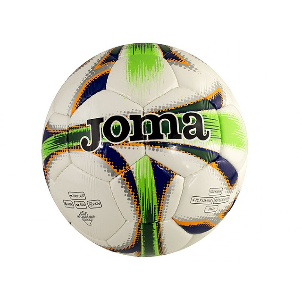 """М`яч футбол. """"Dali"""" №400083/2014 біло-зелений,розмір 5"""