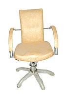 Кресло парикмахерское D0009 — золотой узор, фото 1