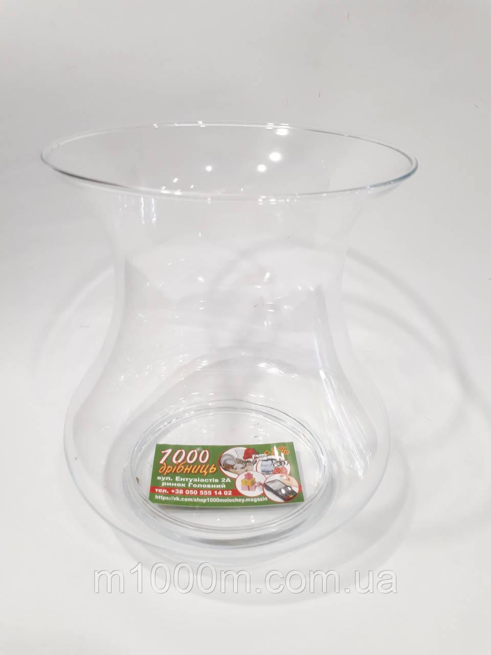 Ваза стеклянная h-20 см 8413