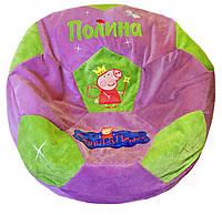 Бескаркасное кресло мяч футбол пуф мешок мягкий для детей