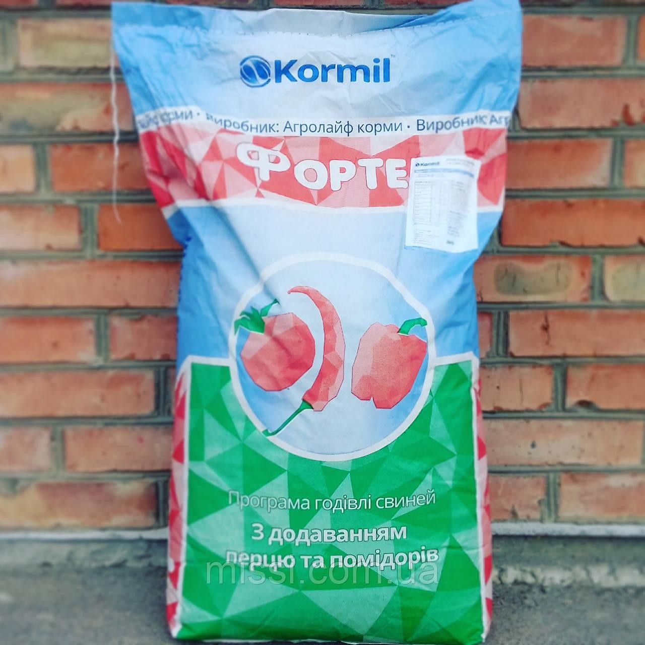 БМВД FORTE Гровер, Фінішер для свиней 10/15% Kormil (мішок 25 кг), Бердичів