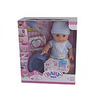 Лялька-пупс 34см, горщик, соска, пляшечка, резиночки, підгузник, пісяє-п'є, коробці, 29х33х14см, 2 види №YL1712K (16)