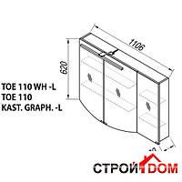 Зеркальный шкаф с LED светильником Kolpa-san Elisa TOE 110 L (kast. graph.)