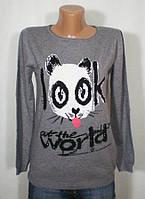 Молодежный повседневный свитер с оригинальным рисунком