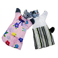 """Набір ляльок-рукавиць """"Кіт і Мишка"""" В081/В082/В155/6"""