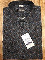 Рубашка темно-синего цвета в цветочный принт