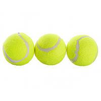 М'яч для великої тенісу (240) 6 см, 3 шт в кульку. 11 х24х6см №MS0234