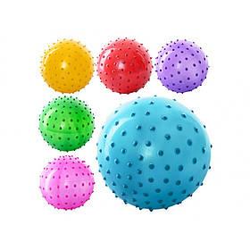 """М'яч масажний 3"""", 20г, 5 кольорів, ПВХ MS-0021"""