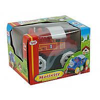 Машина на батарейках, перевертиш, в коробці, 13 х 11 х 9 см. 3 кольори  №1123