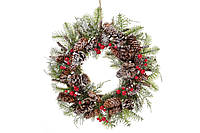 """Рождественский венок с декором """"Изобилие"""", 30 см"""