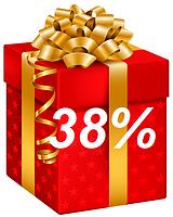 АКЦІЯ!!!  У ПОДАРУНОК 38%