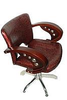 Кресло парикмахерское — бордовое, фото 1