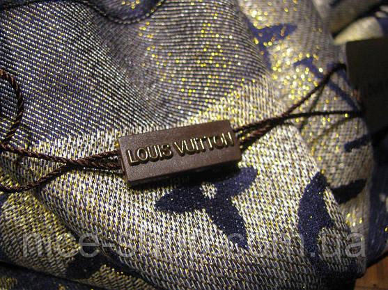 Палантин Louis Vuitton люрекс синий, фото 3