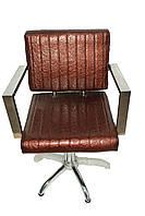 Кресло парикмахерское — 0055 коричневое, фото 1