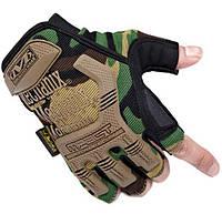 Перчатки тактические беспалые камуфляжные  M3_