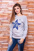 Женский свитшот Cool c принтом Хлопок p.44-46 SS57-4