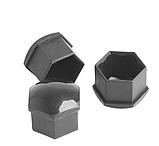 Защитные пластиковые крышки на колесные гайки 17 мм серые, фото 6