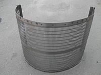 Решето для БЦС  толщина 1 мм  отверствия 2.4х20 мм размеры 490х990х1.0 мм гнутое