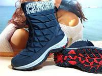 Термо ботинки женские Supo OUTDOOR синие 36 р.