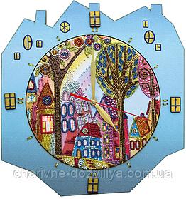 Набор для вышивания(часы) Красочный город