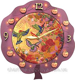 Набор для вышивания(часы) Райские птицы