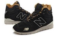 ЗИМНИЕ мужские кроссовки NEW BALANCE 996 SUEDE BLACK (нью беленс 996)