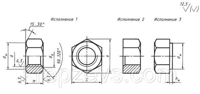 Гайка шестигранная ГОСТ 5915-70