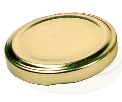Кришка на скляну банку золотиста однотонна 0.25 л (24шт-уп) D-66 Д-П
