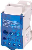 Блок распределительный e.sn.pro.500 на DIN-рейку, 500А (выход 1*3x15…24 мм шинний/выход 2*6…35, 5*2,5...16, 4