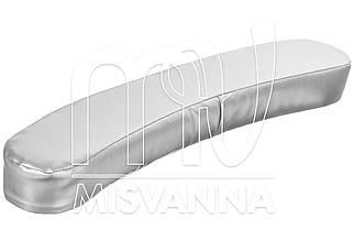 Подлокотник, подушка для рук, подкова, размер:44,5х8,5х5 см. серебро