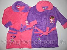 Махровые халаты для девочек Disney, оптом  3-8 лет.