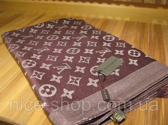 Палантин Louis Vuitton люрекс коричневый, фото 2